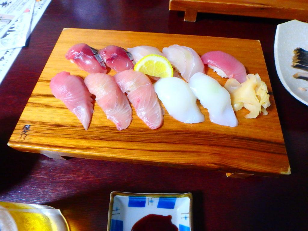 屋久島のいその香りのお寿司