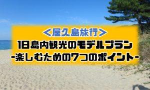 2019年11月旅レポ|屋久島の島内観光スポットと1日島内観光の全行程【口コミ体験談】