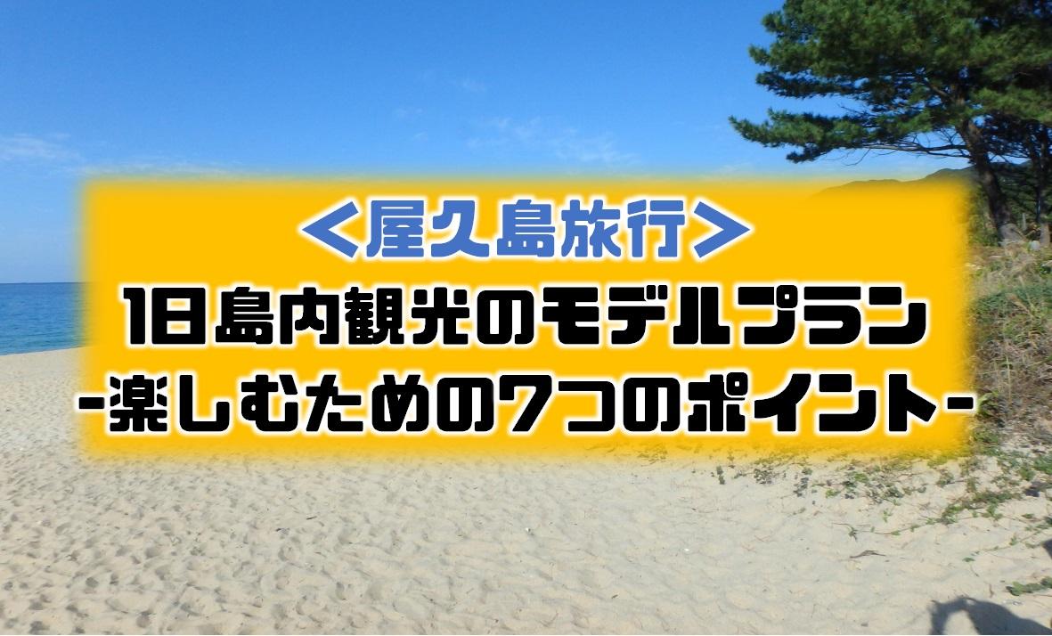 2019年11月旅レポ|屋久島の島内観光スポットと1日島内観光の全行程【口コミ体験談】 | えんためも